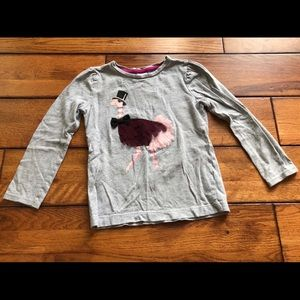 Gymboree 4 ostrich long sleeve shirt